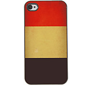 Vintage Design Belgian Flag Aluminum Hard Case with 3 Packed HD Screen Protectors for iPhone 4/4S