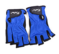 Full Fingers Mitten Keep Warm Waterproof Blue Canvas Fishing Glove