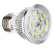 5W E26/E27 Focos LED 15 SMD 5730 100-550 lm Blanco Cálido Regulable AC 100-240 V