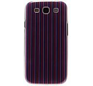Lila, Rot, Streifen-Muster Kunststoff-Schutz stark Fall-Abdeckung für Samsung Galaxy S3 I9300