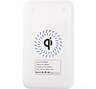 Qi Wireless Charger White Charging Pad with Black Receiver for Samsung Galaxy Note2 N7100