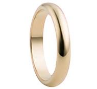 Klassische Damen Alloy Band Ringe (Gold) (1 PC)