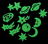 12PCS Luminous Universo Padrão Wall Stickers