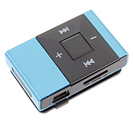 TF Card Reader MP3 Player With Clip Schoolbag Shape Blue