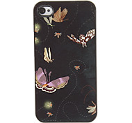 Beautiful Flying Butterflies Pattern PC Hard Case with 3 Packed HD Screen Protectors for iPhone 4/4S