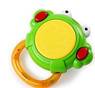 Mini Musical Luminous Frog-shaped Tambourine for Babies