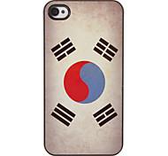 Hard Case PC de modèle de drapeau coréen avec 3 protections d'écran HD paniers pour iPhone 4/4S