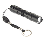 Mini Single-Mode LED Flashlight (1xAA, Black)