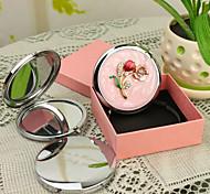 Персональный подарок Blossom Стиль Розовый Chrome компактное зеркало
