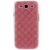 Pink Leather Pattern Plastic Protective Hard Back Case Cover for Samsung Galaxy S3 I9300