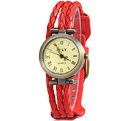 Women's Rope Style PU Band Quartz Wrist Watch (Assorted Colors)