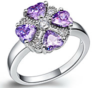 Fashion Women's Purple Crystal Wedding&Engagement Rings(Silver)(1 Pc)