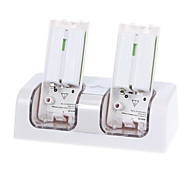 Dual Charger Station for Nintendo Wii Nunchuck Remote Controller (White)