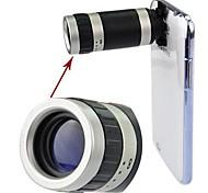 Angibabe Zoom óptico de 18 mm de la lente Lente de Telephoto 8x con ultradelgado caso mate dura de la PC para Samsung Galaxy Note 2/N7100