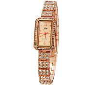 Da Mulher Diamante retângulo Dial Liga banda quartzo analógico relógio de pulso (cores sortidas)