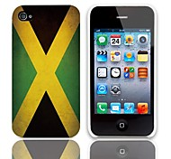 Vintage The Flag of Jamaica Pattern Hard Case with 3-Pack Screen Protectors for iPhone 4/4S