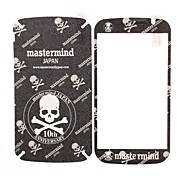Skull Pattern Front and Back Leather Screen Protector Stickers for Samsung Galaxy Grand Duos i9082