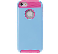 2-in-1 Design Solid Color Hard Case with Rose TPU Inside for iPhone 5C (Assorted Colors)