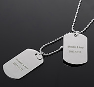 Personalized Gift Women's Curve Engraved Necklace (within 10 characters)