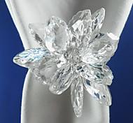 Kristallserviettenring Set 6, Acryl Dia 4,5 cm