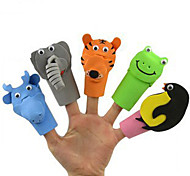 10 Stück Tier-Plüsch-Fingerpuppen