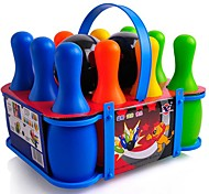 Large-sized Multicolored Kids' Bowling Game Toy Set (10 Bottles and 2 Balls Included)