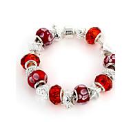 Sweet 6.3cm Women's red Crystal Strand Bracelet (1 Pc)