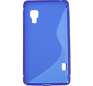 Simple Design Soft Case for LG E450 L5 two(Assorted Colors)
