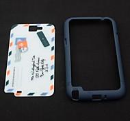 Blue and white Envelope Plastic Case for Samsung 7100