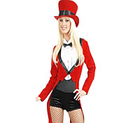Partido Sexy Circus instrutor Poliéster Red Mulheres Carnaval Costume