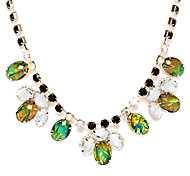 Crystal Green Choker Necklace
