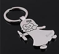 Porte-clés personnalisé de cadeau de fille gravé en forme