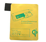 Gold Qi Standard Wireless Charging Receiver Pad For Samsung Note3