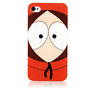 Original Cartoon Big Eyes Uncle Pattern Transparent Frame Back Case for iPhone 4/4S
