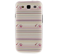 Birds Carrying Flowers Pattern Plastic Protective Hard Back Case Cover for Samsung Galaxy S3 I9300