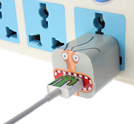 DIY Big Mouth Monster Charger Stickers with US Plug Wall Charger and Cable for iPhone 5/5S (5V 1A, 8Pin,93cm)