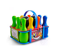 Small-sized Multicolored Kids' Bowling Game Toy Set (10 Bottles and 2 Balls Included)