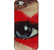 Gigante Pattern Red Eye Caso duro PC com 3 Pacotes de protetores de tela para iPhone HD 5/5S