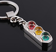 Personalized Engraved Gift Traffic Light Style Keychain