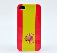 Spain Flag with Letter Hard Case for iPhone 4/4s