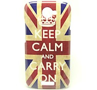 """Keep Calm and Carry On"" UK Flag Pattern Back Cover Hard Case for HTC One S"