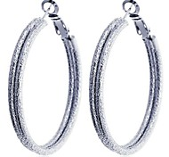 Lureme®High Quality  Matte Hoop Earrings\ \ \ \ \ \ \ \ \ \ \ \ \ \ \ \ \ \ \ \ \ \ \ \ \ \ \