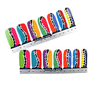 28PCS Vollschuhspitze Nail Art Sticker Decals