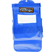 Bingo PVC Blue Big Waterproof Case for 5.5 inch phone or Mini Camera