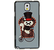 Gentle Cat Pattern Aluminum&Plastic Hard Back Case Cover for Samsung Galaxy Note3 N9000