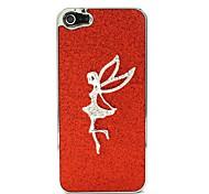 Red Flash-Powder mit White Angel Hard Case für iPhone 5/5S