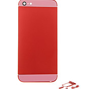 Red Metal Alloy Back Battery Housing with Button and Pink Glass For iPhone 5