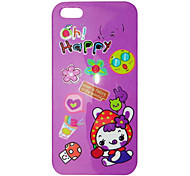 Lovely Cartoon Happy Rabbit Pattern Back Case for iPhone 5/5S