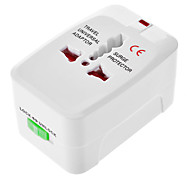 AU EU US UK Universal Travel Power Adapter White