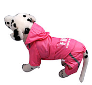 Fashion Polyester FBI Printing Raincoat for Dogs (Assorted Size,Assorted Color)